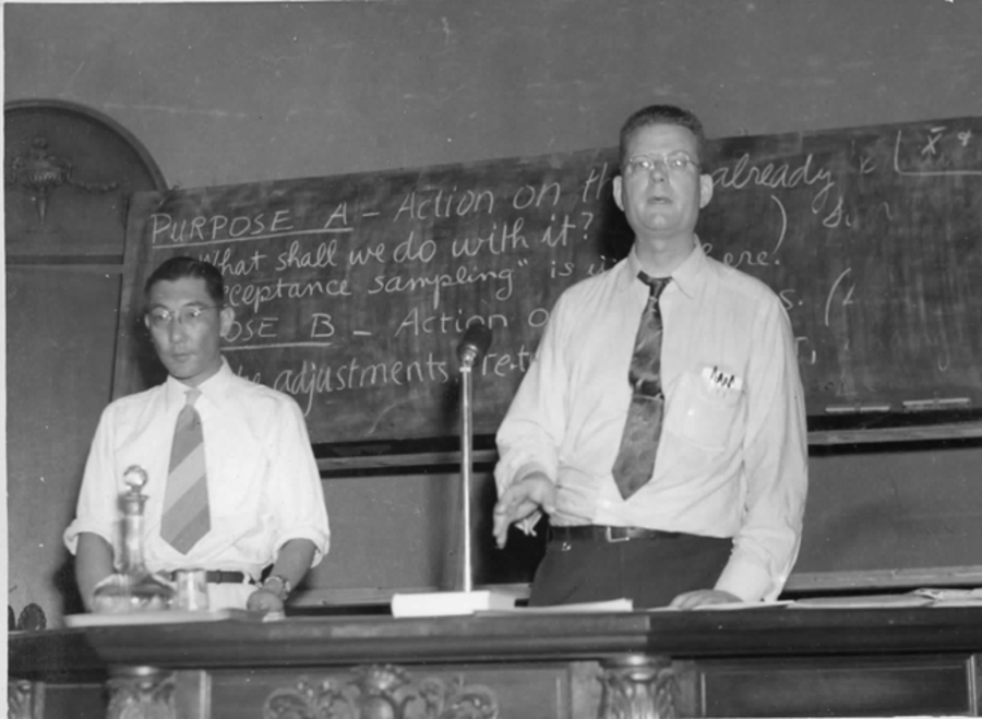 W. Edwards Deming gives his 1st seminar in Japan, 1950